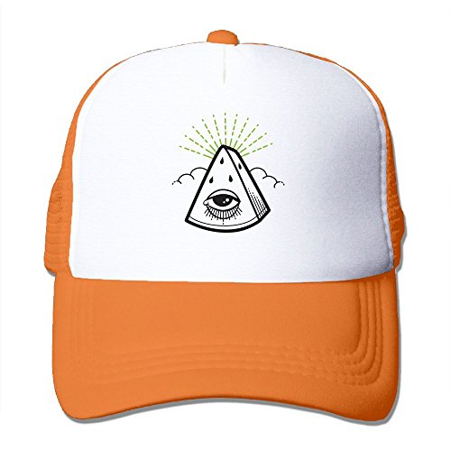 Orange Consumer Headphones (Anraglan Seeing Watermelon In Rind Green Unisex Baseball Trucker Hats Caps Orange)