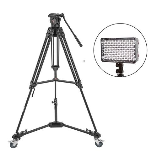 3Pod V3AH Video Tripod System Anodized Aluminum with 2-Way F