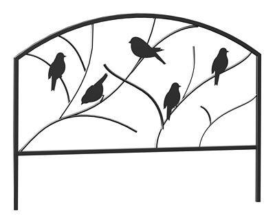 Panacea Perching Birds Garden Border Fence, 18''H, Pack of 12