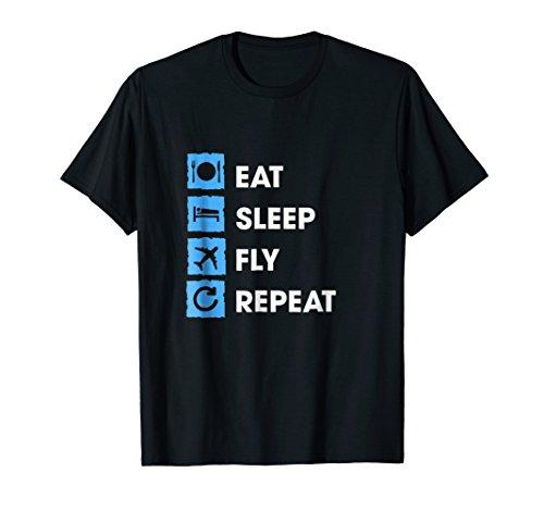 Eat Sleep Fly Shirt. Flight Attendant Pilot Gifts Funny -
