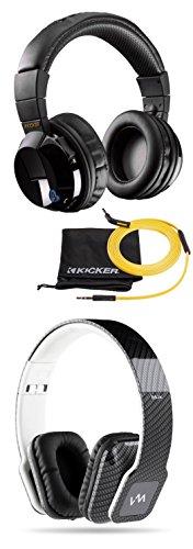 Kicker Cordless Over Ear Bluetooth Headphones + VM Audio Over Ear DJ Headphones by Kicker