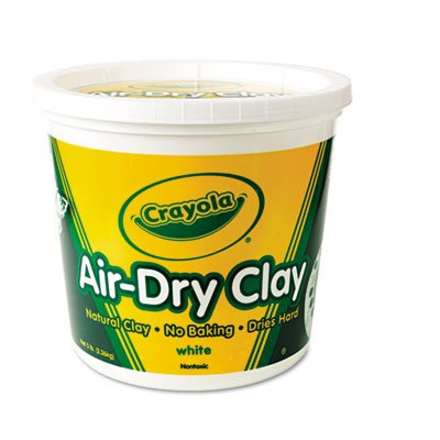 Air-Dry Clay, White, 5 lbs, Sold as 1 Each