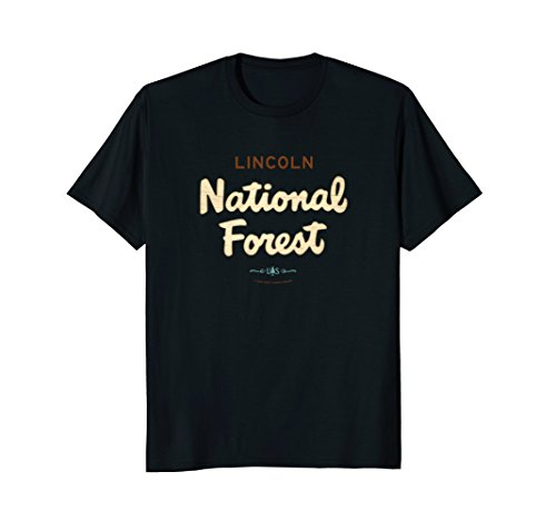 Lincoln National Forest New Mexico Logo Script Font Shirt