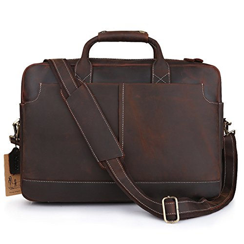 Kattee XZ369CE-FBA Vintage Simple Look Real Leather 17