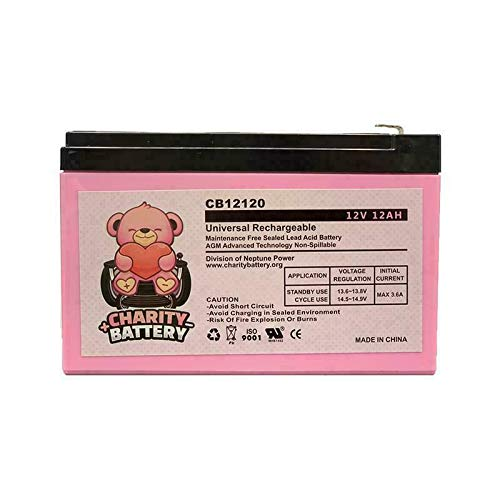 Charity Battery 12V 12Ah CB12120 Rechargeable SLA Sealed Lead Acid Replacement Battery ()