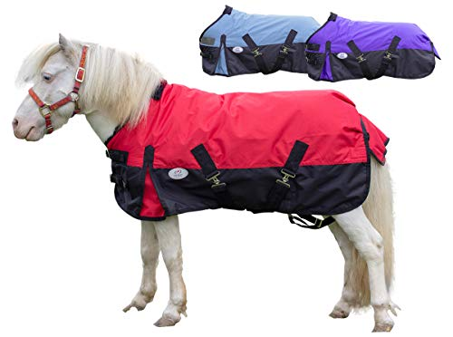 (Derby Originals 600D Ripstop Nylon Waterproof Medium Weight Winter Mini Horse and Pony Turnout Blanket - 200g)