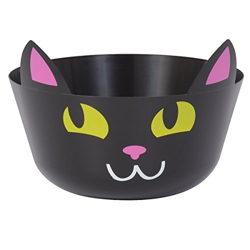 Halloween Black Cat Candy Treat Punch Bowl]()