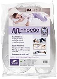Travesseiro Minhocão com Capa, Fibrasca, Branco, 150x21x15 cm
