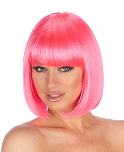 New Look Wigs Women's Premium Quality Bob Wig - Hot Pink ()