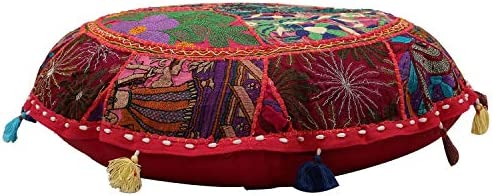 Amazon.com: Janki Creation Indian Patchwork Seat Cover Yoga ...