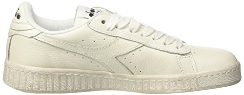 Adulte blanc Diadora C6180 Chaussures De Mixte L Low noir Waxed Gymnastique Game Blanc q78w4