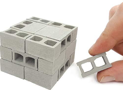 Acacia Grove Mini Cinder Blocks, 24 Pack, 1/12 Scale