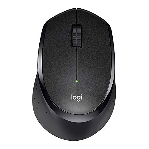 Logitech M330 Silent Plus Wireless Mouse - Enjoy Same Click Feel with 90% Less Click Noise, 2 Year Battery Life, Ergonomic Right-hand Shape for Computers and Laptops, USB Unifying Receiver, Black