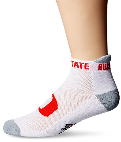 - NCAA Ohio State Buckeyes Men's Footie Socks, Gray Heel/Toe