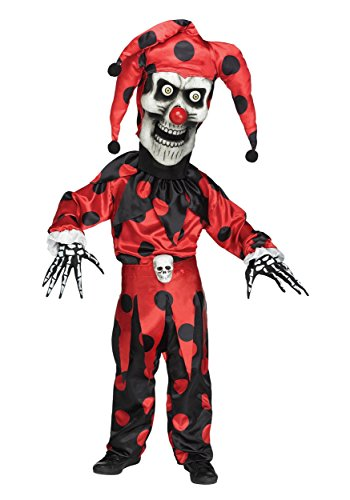 Fun World Kid's Bobble Head Evil Jester Halloween Costume Childrens Costume, Multi, ()