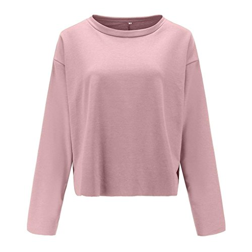 Long rose Chemisier pour Corps T Shirt Femme dcontract Tops Femme TAOtTAO wqpYaW