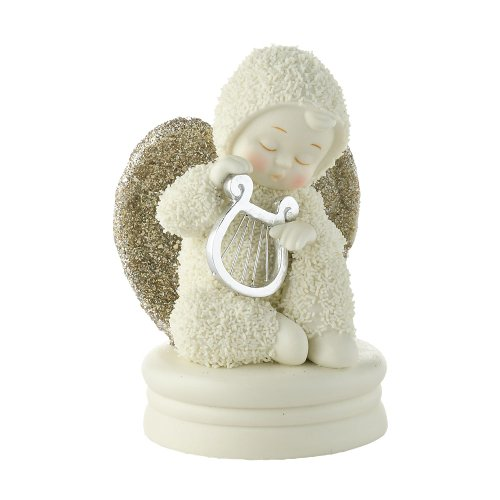 Department 56 Snowbabies Dream Collection Heavenly Music Figurine, 3.74-Inch