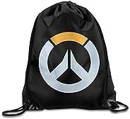 Overwatch Logo Drawstring Bags Traveler Backpack Sport Bag For Men & Women Backpack For T