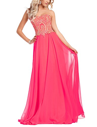 ngth Strapless Prom Dress With Gold Embroidery Fuchsia US26W (Fuchsia Embroidery)