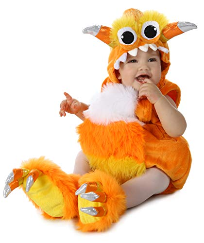 Princess Paradise Baby Candy Horn Monster Deluxe Costume, Orange/White, 6 to 12 Months -