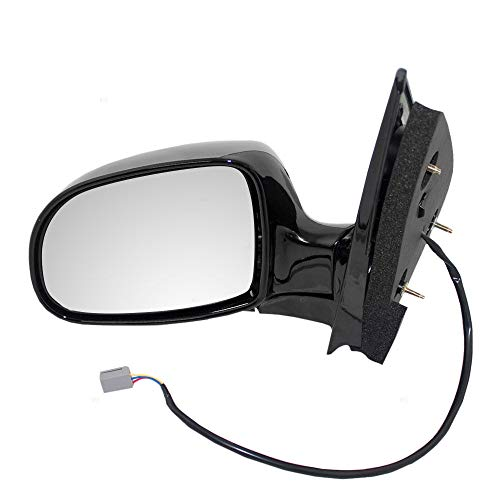 - New Left Driver Side Power Door Mirror For 1999-2002 Ford Windstar Without Heated Glass Without Turn Signal Gloss Black FO1320163 YF2Z17683BA