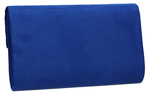 Swankyswans Olie Blue Womens Faux Royal Clutch Envelope Suede rrwRqngZxz