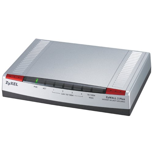 ZyXEL ZyWALL 2 Plus Internet Security Firewall, 4 Port 10/100 Fast Ethernet Switch, w/ 5 IPSec VPN Tunnels