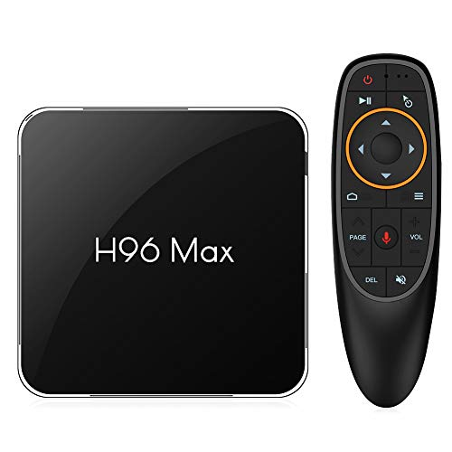 NewPal TV Box, H96MAX X2 Andriod 8.1 TV Box with Voice Remote 4G 64G 4K Stream Media Player Support 2.4G/5G WiFi
