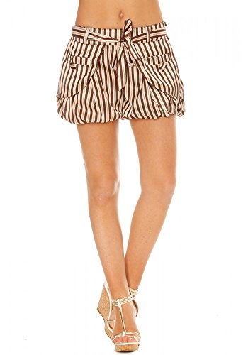 dmarkevous - Short taupe et beige à rayures - L, taupe
