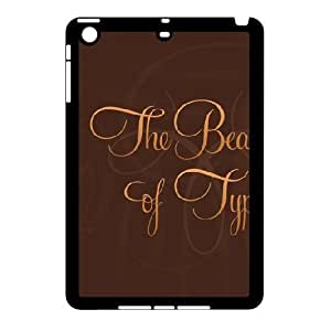3D Funny Quote Series, IPad Mini 2D Cases, Beauty of Typography Cases for IPad Mini 2D [Black]