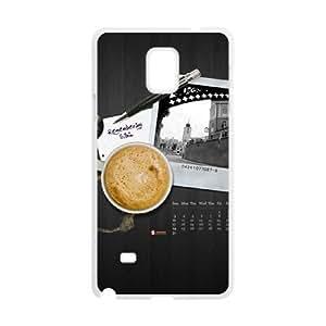 Coffee Samsung Galaxy Note 4 Case White