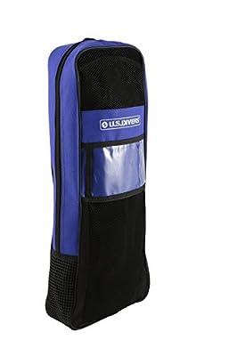 U.S. Divers Admiral Snorkeling Set - Premium Silicone Snorkel Mask, Trek Travel Fins, Dry Top Snorkel + Snorkeling Gear Bag, Blue, Small
