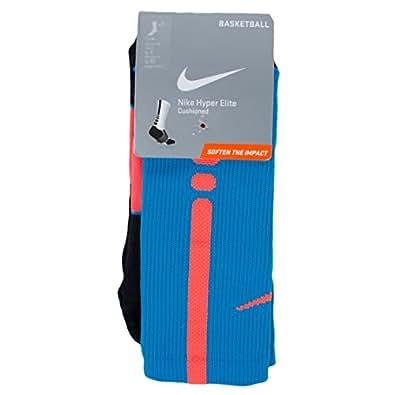 Nike Hyper Elite Basketball Socks Small (Women's Size 4-6) Blue, Crimson 418