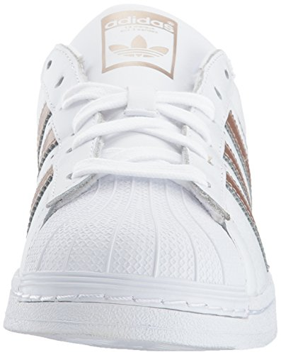 Adidas Originals Women's Superstar W Sneaker, White/Cyber Gold/White, 6 M US