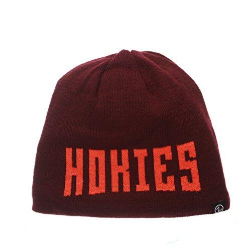 ZHATS NCAA Virginia Tech Hokies Adult Men Ricochet Reversible Beanie, Adjustable, Team Color/Heather Gray -  Zephyr Graf-X