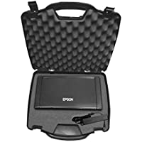 OFFICEFORCE Portable Printer Hard Case w/ Customizable Foam fits Epson WorkForce WF-100 Wireless Mobile Printer or Epson PictureMate PM-400 Photo w/ Charger Cable , Battery , Ink Cartridge and More