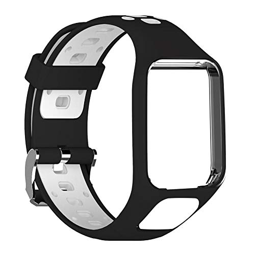 PROKTH Watch Band for Tomtom 2 3 Runner 2 3 Spark 3 Silicone Replacement Strap Bracelet Wristband Strap Sport Bracelet -GPS Smart Watch Accessories