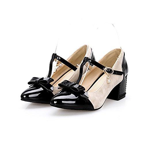 pour Souple Strap EU BalaMasa Femme Antidérapante Heels 5 Kitten Blanc T Pumps Shoes APL01340 41 Matière dYfqw8