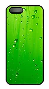 iPhone 5 5S Case Abstract Green Water Droplets 2 PC Custom iPhone 5 5S Case Cover Black