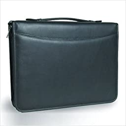 3-Ring Binder Top Handle Padfolio in Tuscan Black Customize: Yes