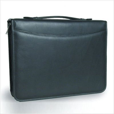 3-Ring Binder Top Handle Padfolio in Tuscan Black Customize: Yes by Clava (Image #1)