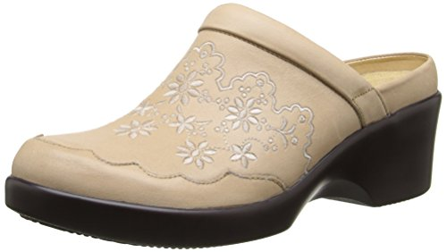 Alegria Women's Isabelle Mule,Cream,39 BR/9-9.5 M US Embossed Print Clogs