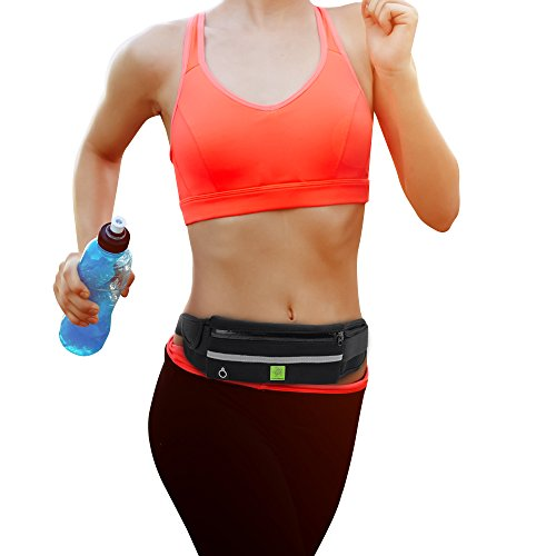 #1 Most Versatile Running Waist Packs, Fanny Pack for Women & Men, Running Pouch Clothes, Accessories, Equipment, Belt, Hands Free Travel, Hiking, Shopping, Festivals, Holds Cell Phone, Keys, Passport