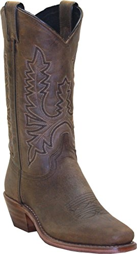 Abilene Women's Oiled Cowhide Cowgirl Boot Square Toe Olive 7.5 M US Abilene Boots