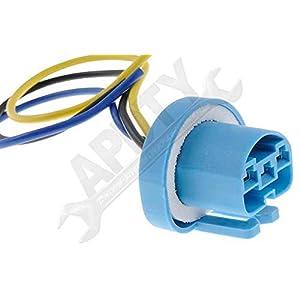 APDTY 95802 Heavy Duty Headlight Bulb Socket Wiring Harness Pigtail 9004 or 9007
