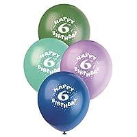 """12 """"Globos de feliz cumpleaños de látex, 6 ct"""