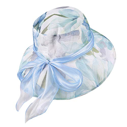 hositor Kentucky Derby Hat, Women's Organza Church Kentucky Derby Fascinator Bridal Tea Party Wedding Hat ()