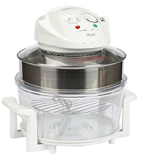 Rosewill R-HCO-15001 Infrared Halogen Convection Oven with Stainless Steel Extender Ring, 12.6-18 Quart, Healthy Low Fat Cooking by Rosewill