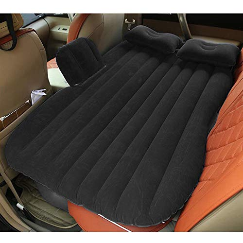 Lapha' Pad Inflatable Travel Picnic Camp Bech Car Mattress Air Bed Back Seat Sleep Rest Mat with Pillow ()