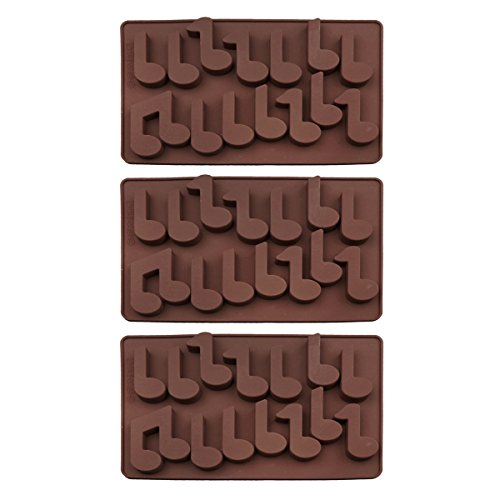 Baidecor Music Note Silicone Chocolate Molds Candy Mold Set Of 3